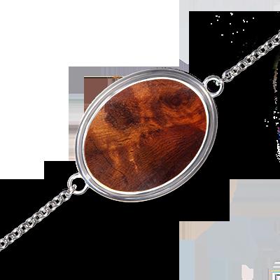 Bijou - Bracelet Mono en Amboine rouge